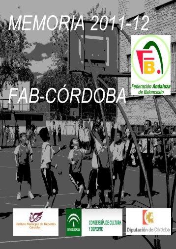 Memoria deportiva FAB-Córdoba 2011-2012 - Federación Andaluza ...