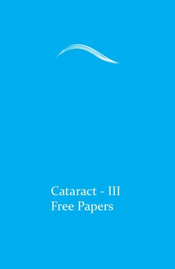 Cataract - III Free Papers - aioseducation