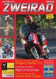 Peugeot Satelis 125 Night of the Jumps Fahren ... - ZWEIRAD-online