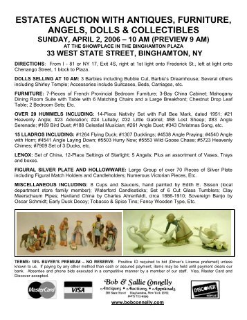 estates auction with antiques, furniture, angels, dolls & collectibles