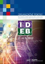 ORGANIZAČNÉ POKYNY 2. - 4. 5. 2012
