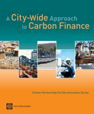 A City-wide Approach to Carbon Finance - Cities Alliance