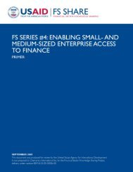 and Medium-Sized Enterprise Access to Finance - Primer