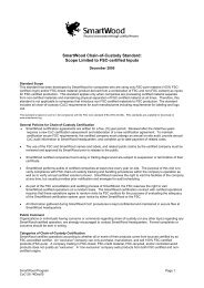 SmartWood Chain-of-Custody Standard: Scope Limited to ... - NEPCon