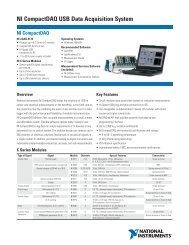 NI CompactDAQ USB Data Acquisition System
