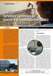 Servicios Centrales de Apoyo a la Investigación (SCAI)
