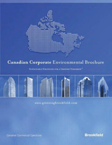 Canadian Corporate Environmental Brochure - Brookfield Properties