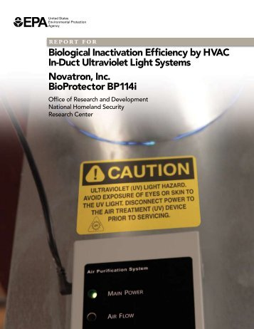 Novatron, Inc. BioProtector BP114i - EPA - US Environmental ...