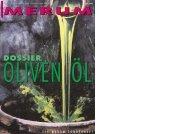 Dossier Olivenöl der Zeitschrift