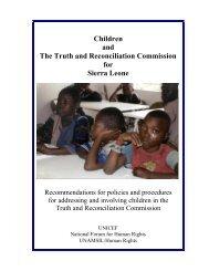 Sierra Leone - TRC Report - Unicef