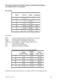 Niveaux de comptence du Cadre europen commun ... - Master | EPFL