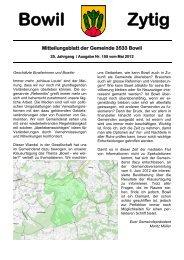 Bowil-Zytig Nr. 155 vom Mai 2012
