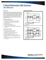 LRC-1000 Series - General Dynamics SATCOM Technologies