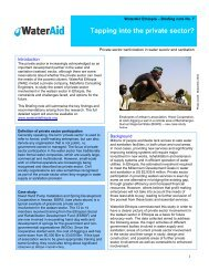 Private Sector Participation in water supply and sanitation - WaterAid