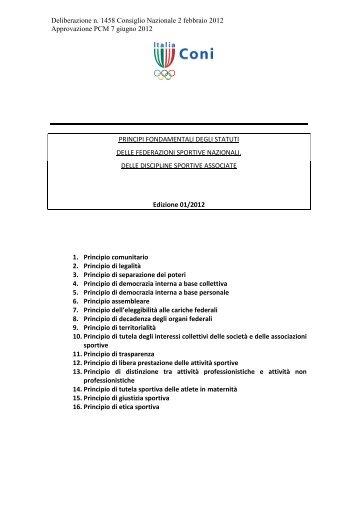 Principi Fondamentali degli Statuti Federali 2012 - Diritto Calcistico