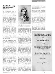 Zum 100. Todestag von Daniel Paul Schreber