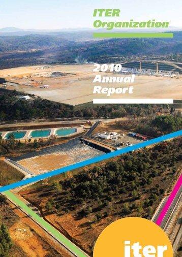 ITER Organization 2010 Annual Report