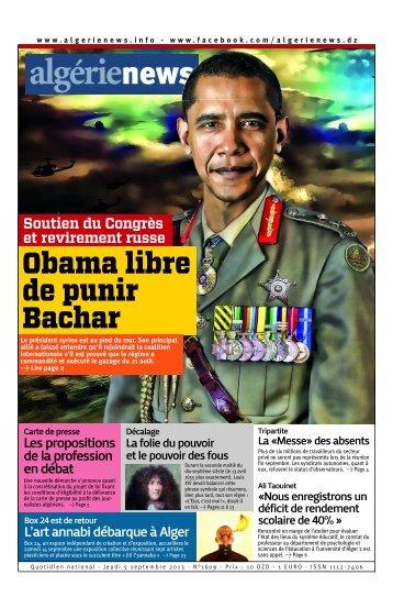 Fr-05-09-2013 - Algérie news quotidien national d'information