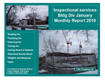Code Enforcement 2010 January Report