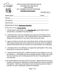 APPLICATION FOR PARTICIPATION IN Long Beach ... - Lbpxc.com