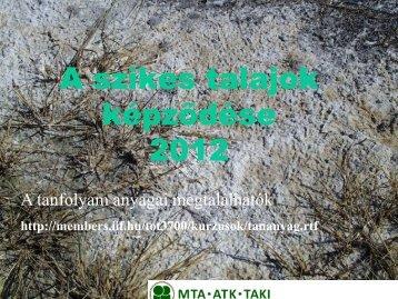 2. Tóth Tibor_ A szikes talajok képződése
