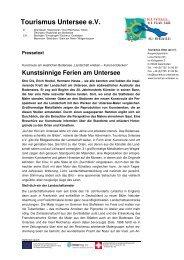 Kunstsinnige Ferien am Untersee - Tourismus Untersee e.V.