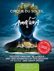 and group offers! - Cirque du Soleil