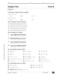 Ch. 3 Algebra