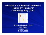 Exercise K.1: Analysis of Analgesic Tablets by Thin Layer ...