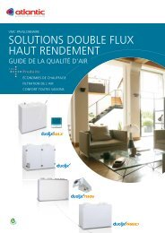 SOLUTIONS DOUBLE FLUX HAUT RENDEMENT