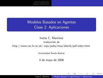 Modelos Basados en Agentes Clase 2: Aplicaciones - LDC