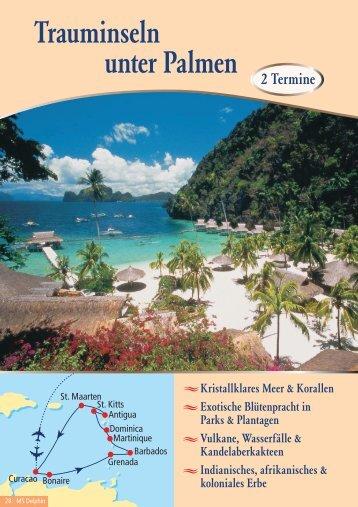 Neue Karibikrouten 2011 - Seereisen Berlin