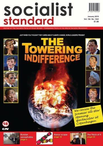 1 Socialist Standard January 2010 - World Socialist Movement