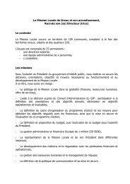 La Mission Locale de Dreux et son arrondissement ... - ANDML