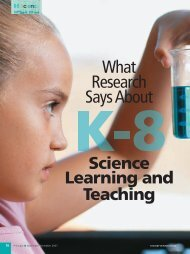 What Research Says About K-8 Science Learning and Teaching