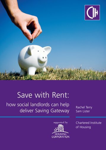 Save with rent - Chartered Institute of Housing