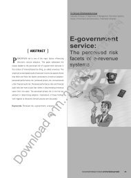 E-government service: - Journal of Business Administration