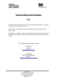 Catering Menus and Packages 2012.pdf - Casula Powerhouse