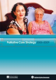 Palliative care strategy 2005-2009 - NT Health Digital Library