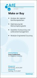 Make or Buy - Dr. Wüpping Consulting GmbH