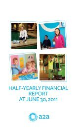 HALF-YEARLY FINANCIAL REPORT AT JUNE 30, 2011 - A2A
