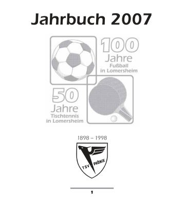 chronik - TSV Phönix Lomersheim
