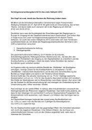 Vermögensverwaltungsbericht für das erste Halbjahr 2012 Der Kopf ...