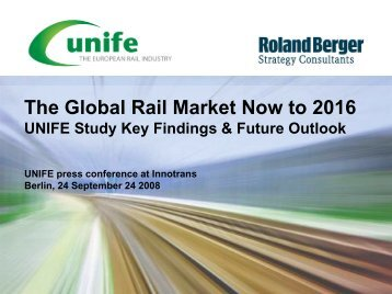 The Global Rail Market Now to 2016 - Unife