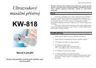 Ultrazvukový masážní přístroj KW-818 Návod k použití