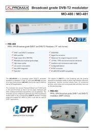 Broadcast grade DVB-T2 modulator - MO-480 / MO-481 - Promax