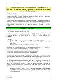 le cahier des charges national - ARS Poitou-Charentes