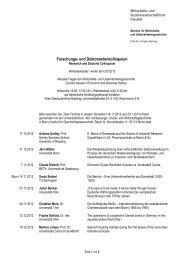 Forschungs- und Doktorandenkolloquium - Seminar für Wirtschafts ...