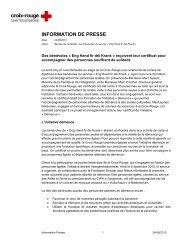 INFORMATION DE PRESSE - Croix-Rouge luxembourgeoise