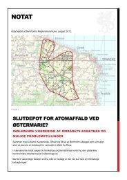 Notat om slutdepot for radioaktivt affald - Bornholms Regionskommune
